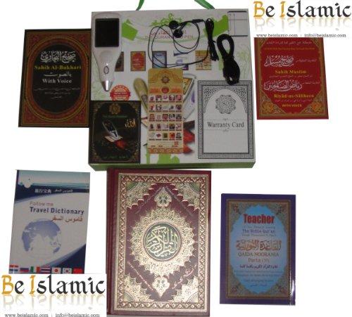 Digitaler Koran Lesestift mit 8 GB (2,4 Zoll) Farbbildschirm, große Schrift, C0lour Codiert, Tajweed Quran Noorani Qaida Sahih Al-Bukhari Sahih Al Muslim und sprechendes Wörterbuch