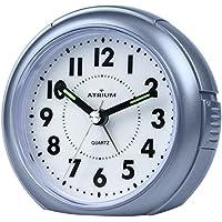 ATRIUM sveglia analogica blu senza ticchettio, con luce e funzione snooze A240-5