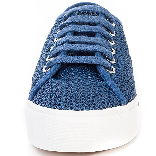 Fred Perry Phoenix Flatform Mesh Femmes Trainers Navy White