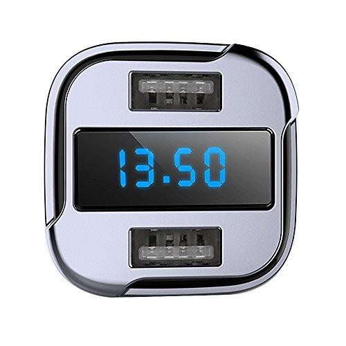 51meMuqiQqL - Cargador de Coche Tracker 4.2A Dual USB Coche rápido GPS Coche satélite con vehículo GPS localizador móvil App Buscador de Seguimiento en Tiempo Real de estacionamiento Dispositivos compatibles