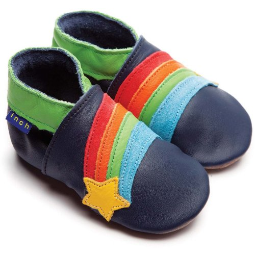 inch-blue-boys-baby-luxury-leather-soft-sole-pram-shoes-rainbow-star-navy