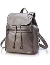 SUXCGE - Bolso mochila  de Piel para mujer Talla Unica