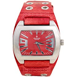Alpha Saphir Women's Quartz Watch 222D with Leather Strap