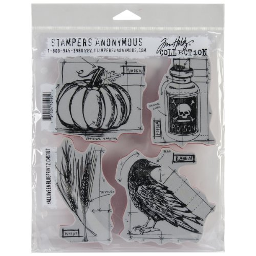 m Holtz selbst Gummi-Stempel-Set Bluetooth X 21,6cm, Baupläne Halloween # 2 (Halloween Stempel)