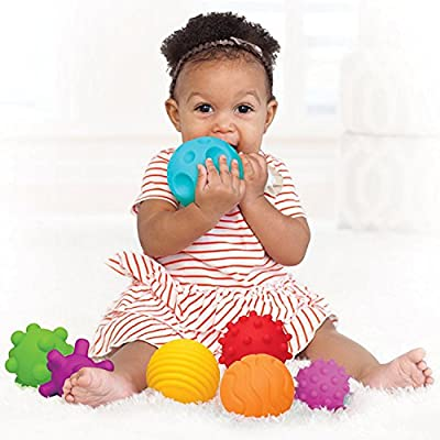 A to Z 61017 My First Baby Multi Textured Sensory Soft Balls, Colour