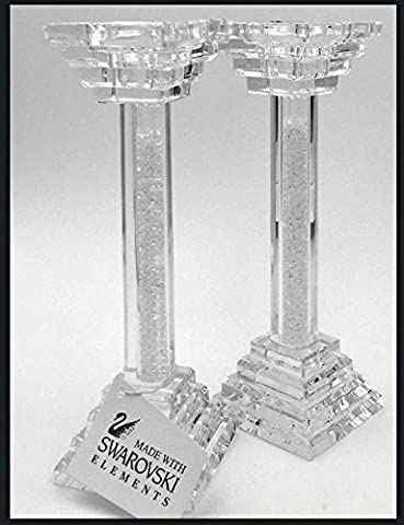 Exclusive, Unique & Awesome Design Pair of Swarovski Crystal Filled