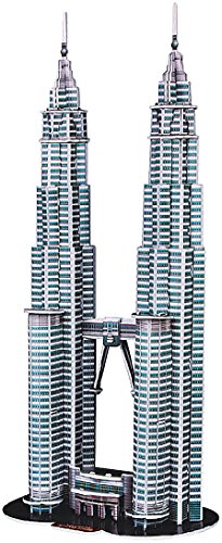 Playtastic Puzzle Bauwerke: 3D-Puzzle Petronas Towers (Twin Towers-puzzle)