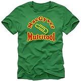 Coole-Fun-T-Shirts T-Shirt Mac Gyver Multitool, green, L, SK16_Green_GR.L