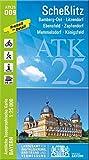 ATK25-D09 Scheßlitz (Amtliche Topographische Karte 1:25000): Bamberg-Ost, Litzendorf, Ebensfeld, Zapfendorf, Memmelsdorf, Königsfeld (ATK25 Amtliche Topographische Karte 1:25000 Bayern)