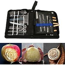 46Pcs Set di strumenti per intaglio in cucina Set per guarnire / tagliare / affettare utensili per guarnizioni per frutta verdura