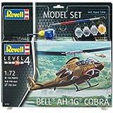 Revell 64956–Maqueta de helicóptero 64956Set 1: 72–Bell Ah de 1G Cobra en escala 1: 72, niveles 4, orgin algas fidelidad imitación con muchos detalles, helicóptero de