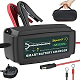 LEICESTERCN Car Battery Charger Maintainer 12V 5Amp 7Stage Automatic Smart Battery Charger Trickle