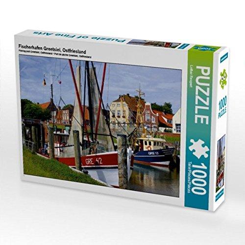 Preisvergleich Produktbild Fischerhafen Greetsiel, Ostfriesland 1000 Teile Puzzle quer (CALVENDO Orte)