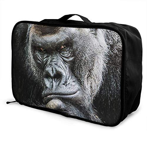 Qurbet Reisetaschen,Reisetasche, Portable Luggage Duffel Bag Lovely Orangutan Travel Bags Carry-on in Trolley Handle -