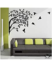Kayra Decor 'Home Coming Birds' Reusable Wall Stencils/DIY Painting Tools/Durable Than Wall Stickers (PVC, 60-inch x 55-inch)