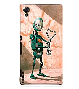 Omnam Green Robot With Key Printed Designer Back Cover Case For Sony Xperia Z4