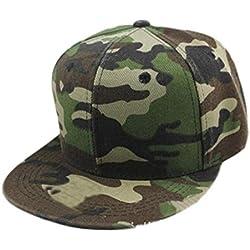Gorra de beisbol Sannysis Sombrero de Hip Hop, sombrero ajustable, color de camuflaje (Verde)