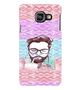 PRINTVISA Beard Man Case Cover for Samsung Galaxy A3 A310 (2016 Edition)