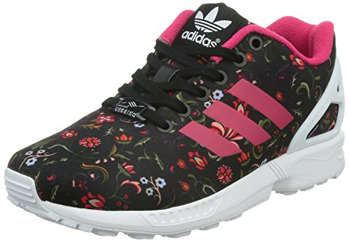 adidas Originals Zx Flux, Baskets mode femme Noir (Core Black/Vivid Berry S14/Ftwr White)