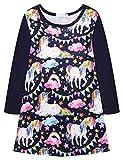 Trudge Mädchen Kleid Einhorn Nachthemden T-Shirt Kleid Blumenkleid Langarm Pyjamas Nachtwäsche Bedrucktes Kleid Kinder Nachthemd 3-11 Jahre