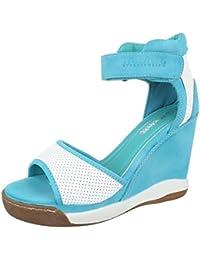 Keilsandaletten Damenschuhe Plateau Keilabsatz/ Wedge Keilabsatz Klettverschluss Ital-Design Sandalen / Sandaletten