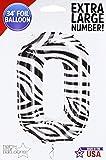 Northstar Folienballon 00866Nummer 0-zebra, 86,4cm farbenreiche