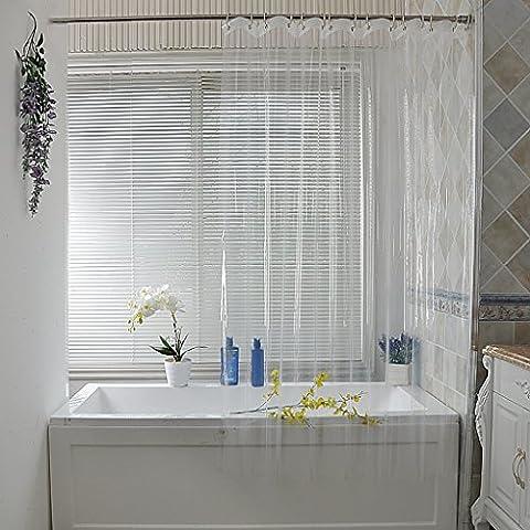 Rideaux de douche Rideau de douche Refroidisseur étanche Moldy Epais Multi-taille Optionnel Rideau de douche PEVA de protection de l'environnement de haute qualité rideaux de douche anti moisissure ( taille : 120cm*200cm )