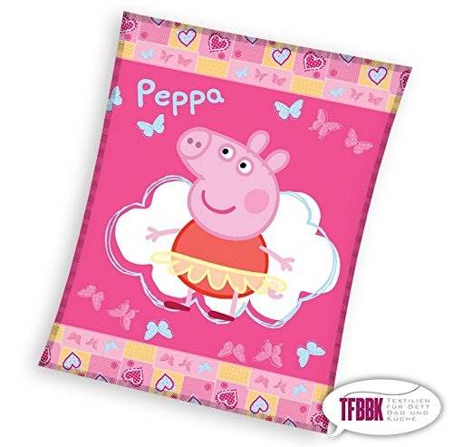 Coperta Peppa Pig.Tfbbk Peppa Pig 129 Coperta In Pile Per Bambini 110 X 140 Cm
