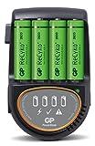 GP Battery–Gp Batteries ic-gp202208–Chargeur rapide 4piles AA/AAA avec 4piles AA 2600mAh USB/voiture