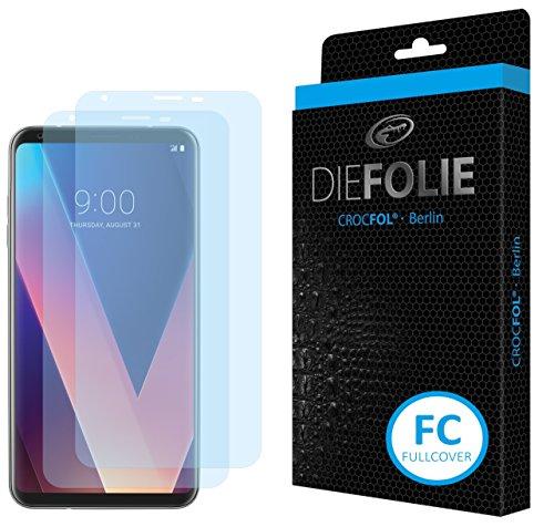 Crocfol Displayschutz für LG V30: 2X DIEFOLIE Schutzfolie, 1x DASFLÜSSIGGLAS flüssiges Glas – Fullcover Folie zur Verwendung ohne Schutzhülle