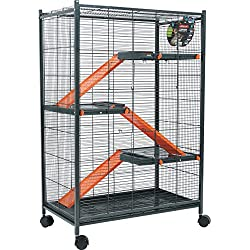 Zolux Cage pour Chinchillas/Furet/Rat Orange 72 x 43 x 107 cm