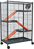 Zolux Cage pour Chinchillas/Furet/Rat Orange 72 x 43 x 107 cm