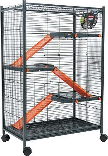 Zolux Cage pour Chinchillas/Furet/Rat Orange 72 x 43 x...