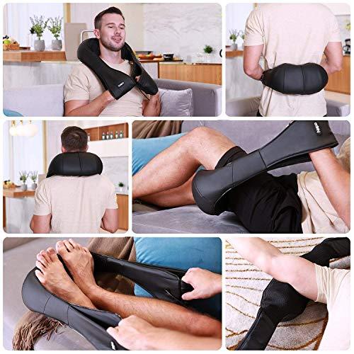 Naipo Shiatsu Nacken Schulter Massage Wärme 3D-Rotation Masseur - 4
