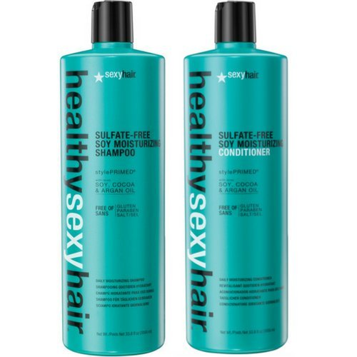 Sexy Moisturizing Conditioner (Sexy Hair Healthy Sexy Hair Color Safe Sulfate Free Soy Moisturizing Shampoo & Conditioner, 33.8 Oz Each by Sexy Hair)