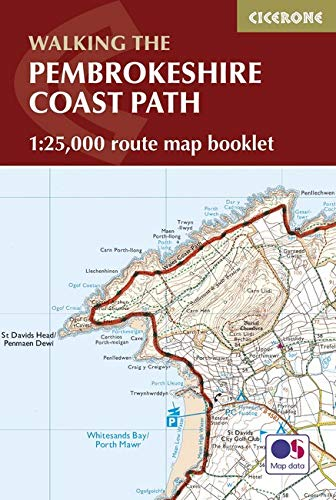 Pembrokeshire Coast Path Map Booklet: 1:25,000 OS Route Mapping PDF Books