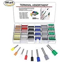 YoungRich Conectores Terminales Electricos Cable Kit con 8 Colores Crimpadora de Terminales con 880pcs Terminales Juego Aislante Casquillos
