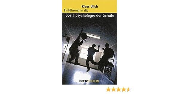 Einführung in die Sozialpsychologie der Schule Beltz Studium: Amazon ...