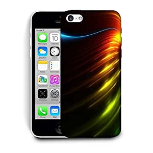 Snoogg Colorful Waves Printed Protective Phone Back Case Cover For Apple Iphone 5C