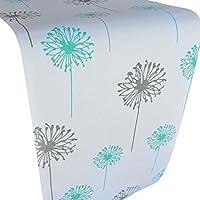 Crabtree Collection Deluxe forrado patrón de Mesa De Grueso Tabla de algodón cubierta con turquesa /