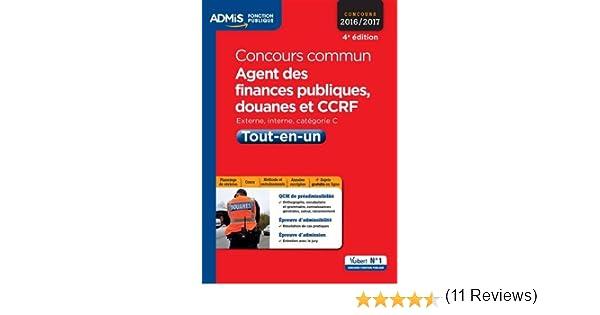 Amazon Fr Concours Commun Agent Des Finances Publiques Douanes Et