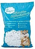 flaper–Pura Blanca Papel einstreu de celulosa (10L), para todos como adolescente Conejos, cobayas, hámster y otros animales pequeños, adecuado para alérgicos, sin polvo, ergiebig