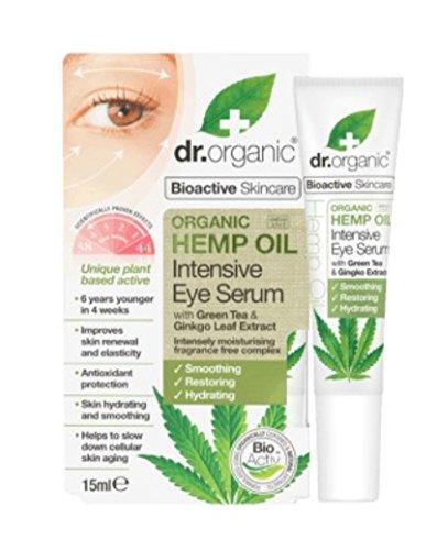 Dr. Organic Hemp Oil Siero Contorno Occhi, Verde - 15 ml