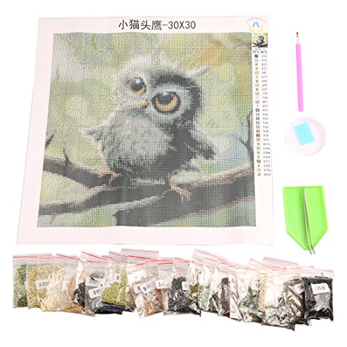 5D Diamond Embroidery Owl Mosaic Resin Full Drill Home Decor DIY Painting