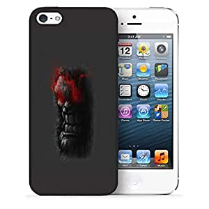 Snoogg Angry Man Designer Protective Back Case Cover For IPHONE SE