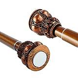 85-135cm Verstellbare Teleskopstange aus Edelstahl ohne Bohren ohne Dübeln elegantes Design Bronzener Kerzenständer für Gardinenstange Duschvorhangstange Vorhangstange Klemmstange Scheibengardinen Türvorhänge
