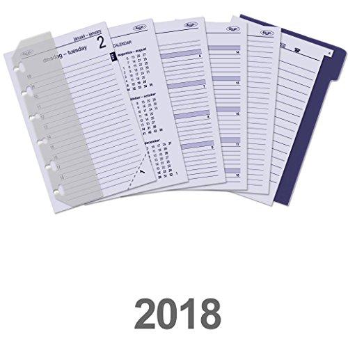 6331–18KALPA Junior Organizer Refill komplett Box Filler 1Tag pro Seite Tagebuch–2018