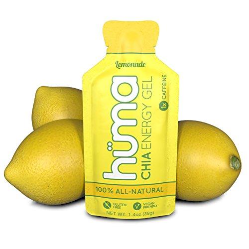 Huma chia gel energetici, limonata, 12 confezioni, 25mg di caffeina - prestazione sportiva per esercizi di resistenza