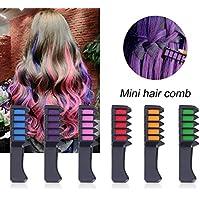 6 paquetes temporales de tiza de pelo brillante, colores lavables para el pelo para niños, adolescentes y adultos, fiesta de teñido y cosplay DIY