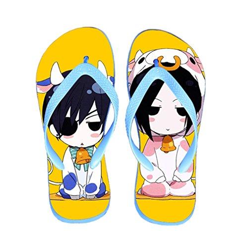 Bromeo Black Butler Anime Unisex Flip Flops Zehentrenner Flip Pantoffeln 65